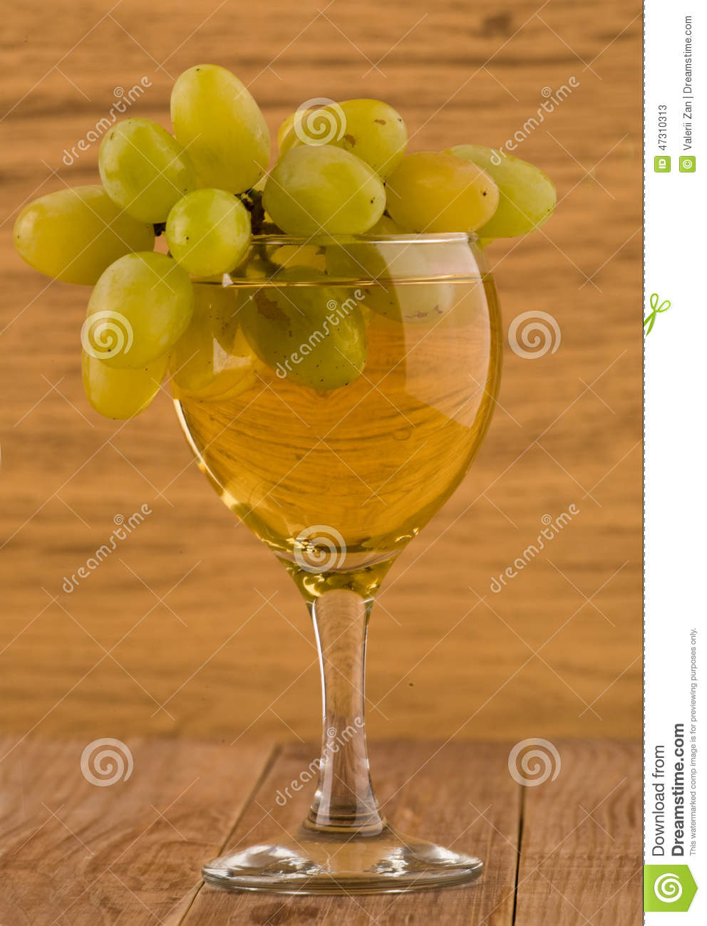 Glass with wine and vine stock photo image 47310313 for Table and vine