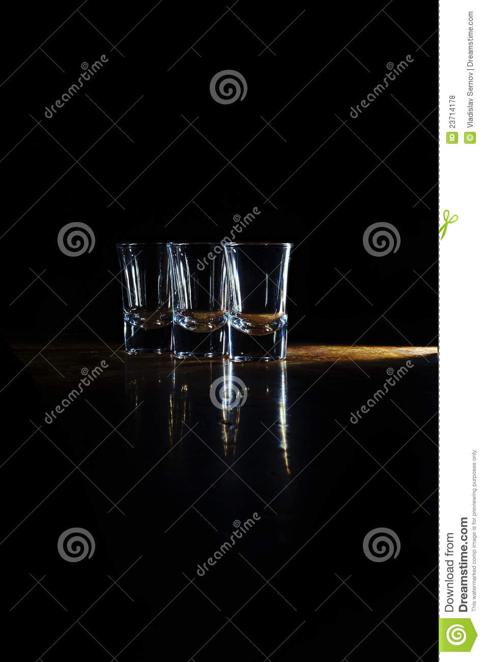 Glasses on the bar