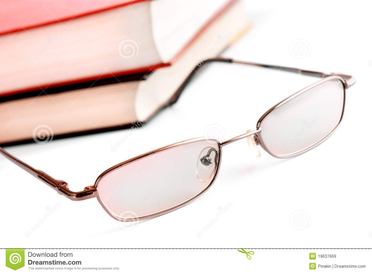 glasses on book - photo #24