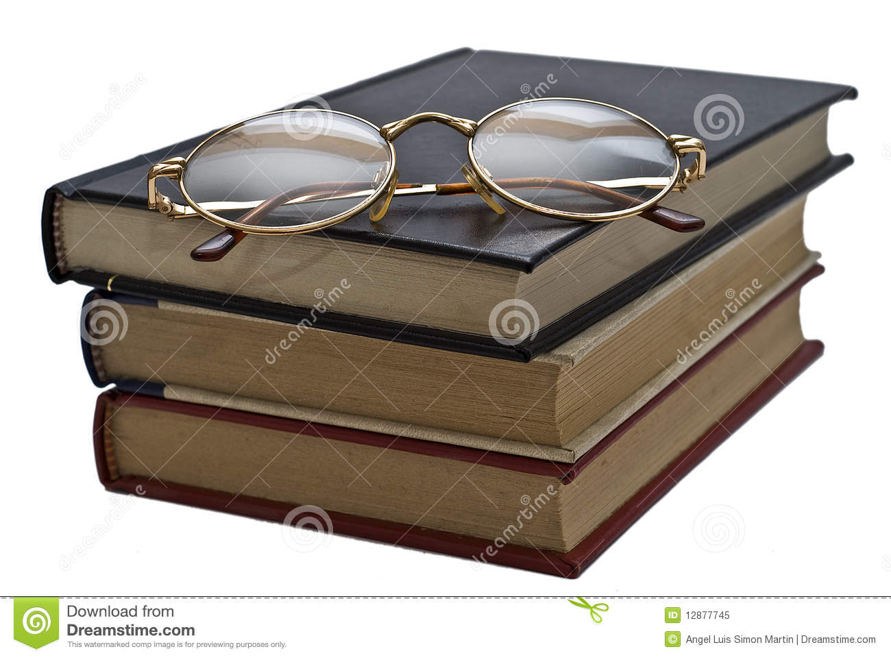 glasses on book - photo #46