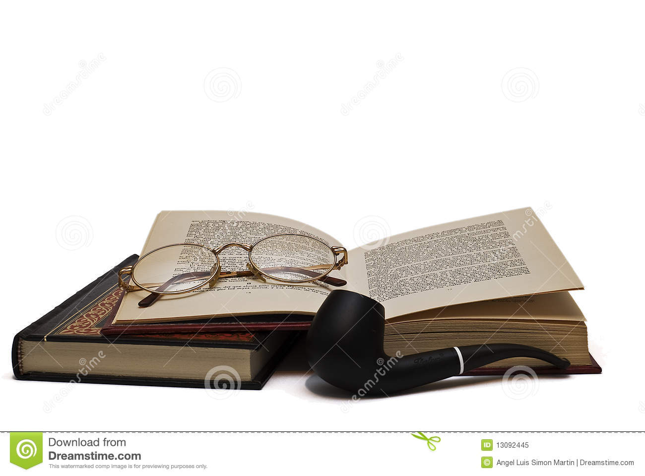 glasses on book - photo #25