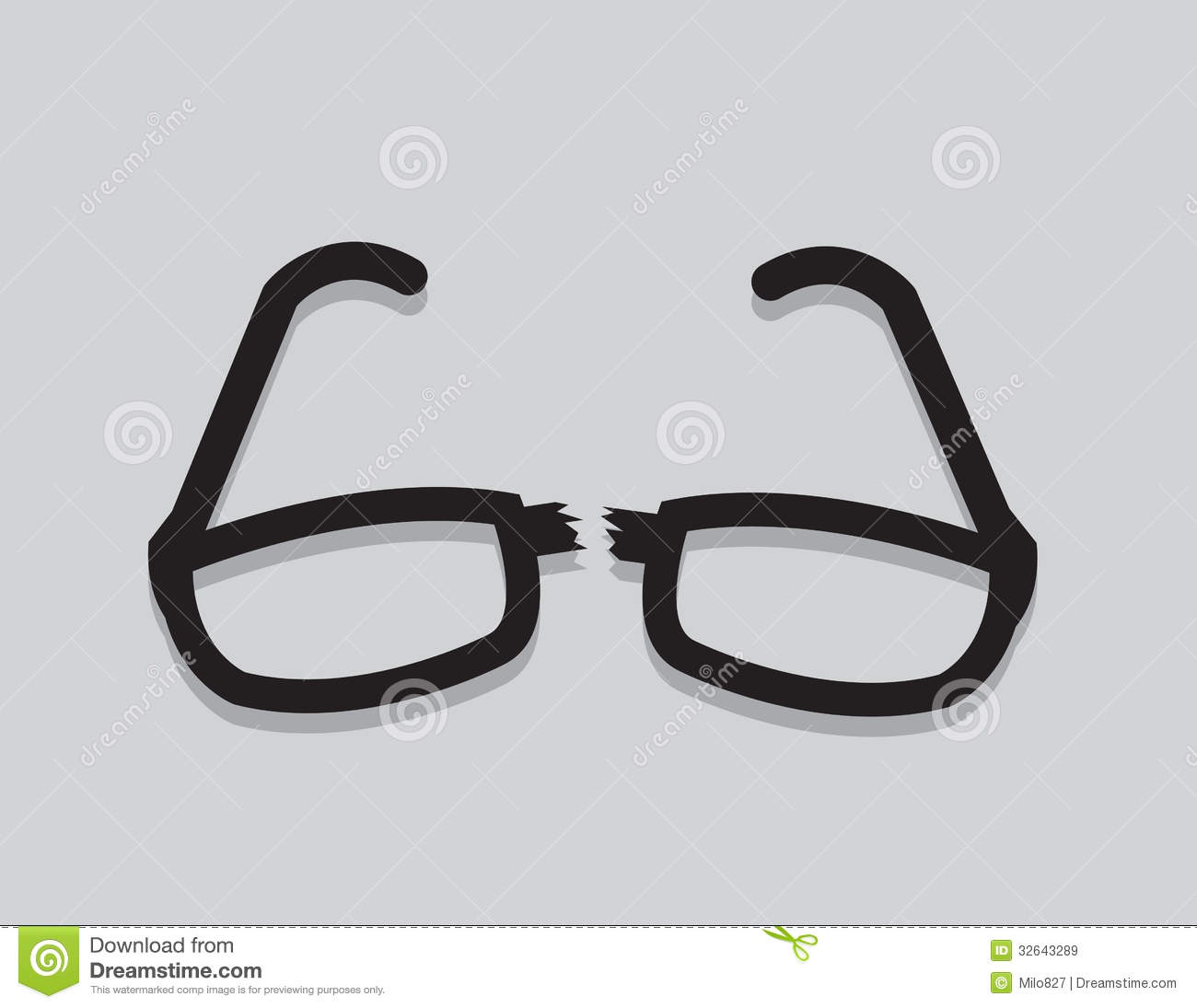 Glasses Broken Royalty Free Stock Images - Image: 32643289