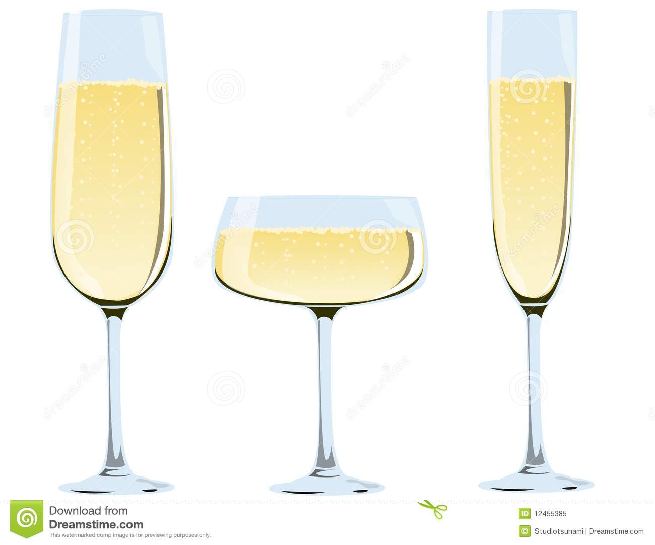 Glasses Of Champagne Royalty Free Stock Photo - Image: 12455385