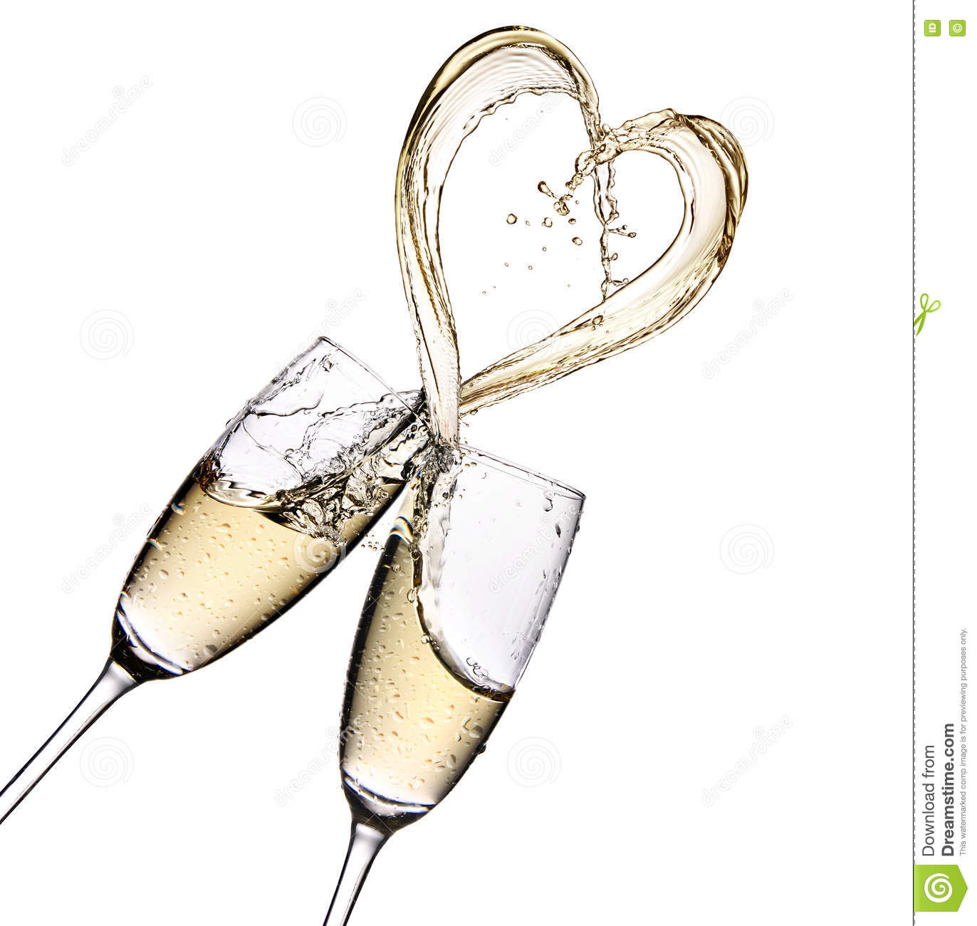 91bb6233288d Glasses Of Champagne With Heart Shape Splash Stock Image - Image of ...