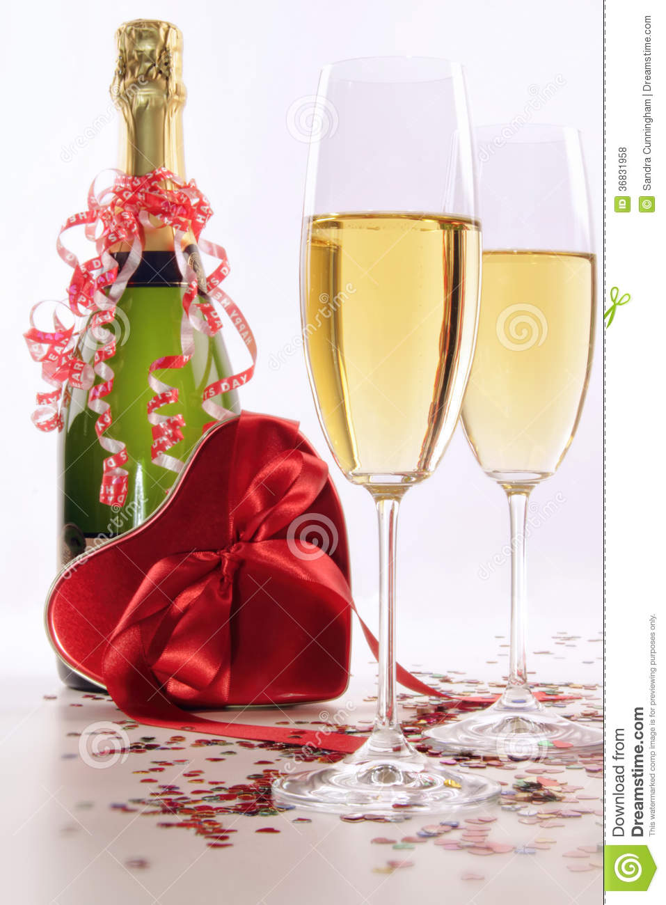 glasses of champagne for valentines day with heart stock photo image 36831958. Black Bedroom Furniture Sets. Home Design Ideas