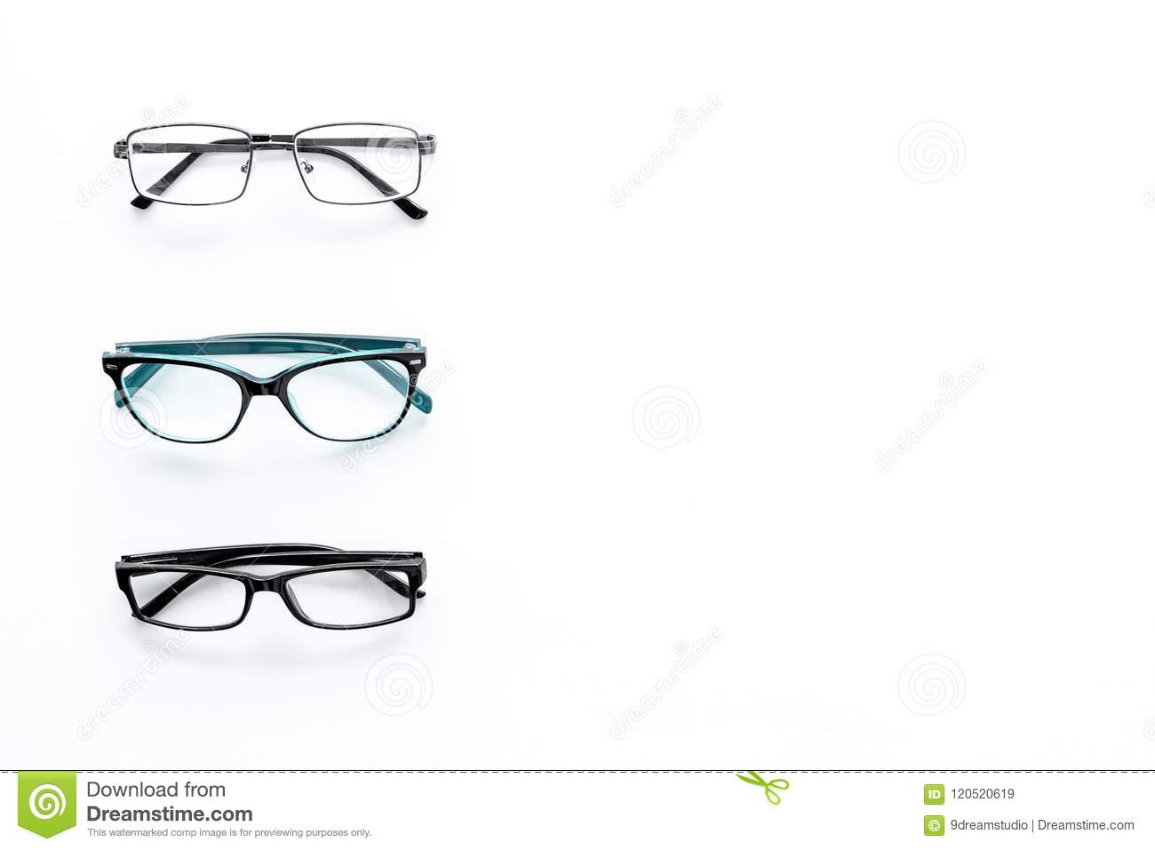 Glasses Concept. Set Of Glasses With Different Eyeglass Frame And ...