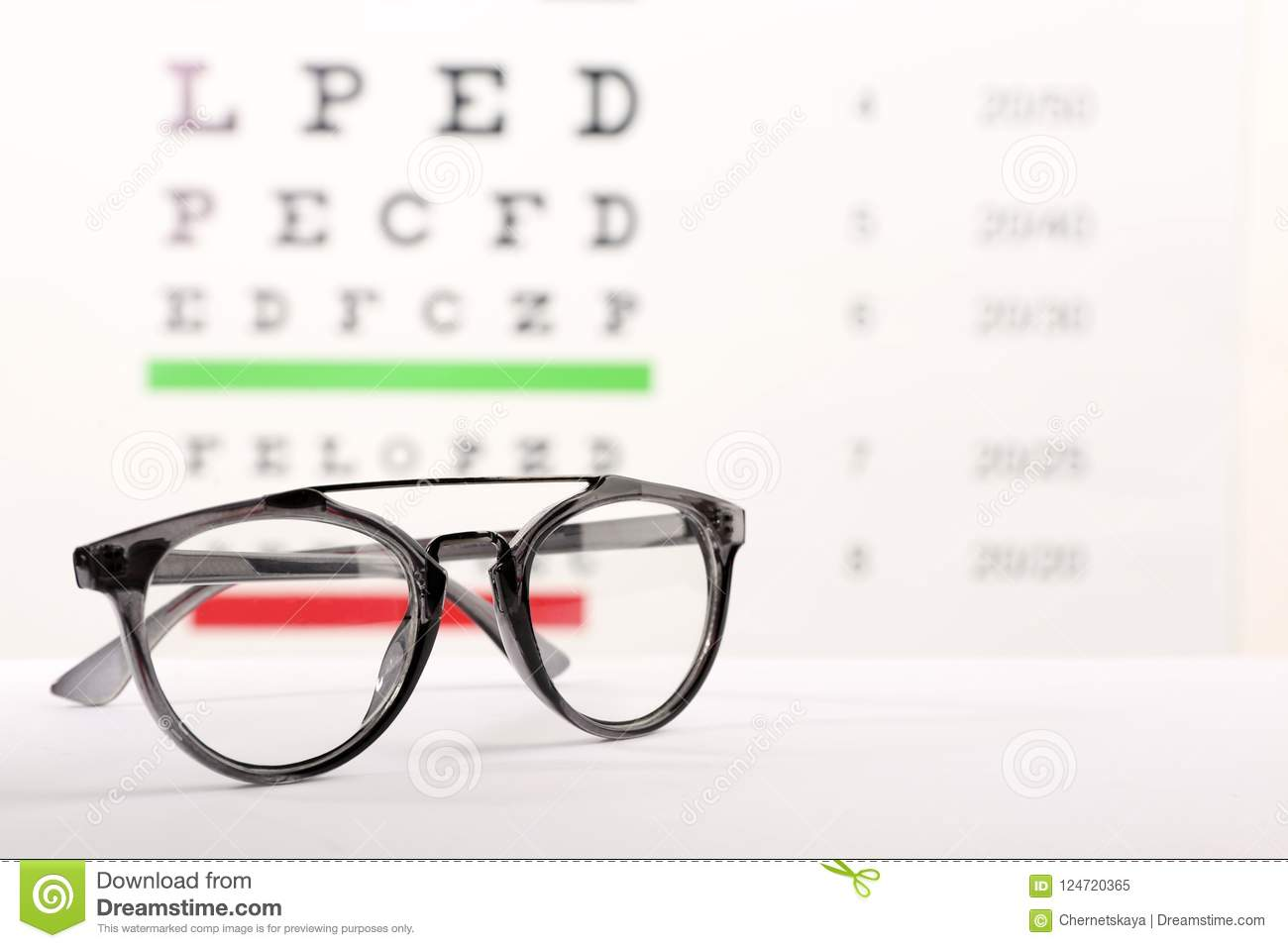 d87ab5b3c711 Glasses With Corrective Lenses On Table Stock Image - Image of ...