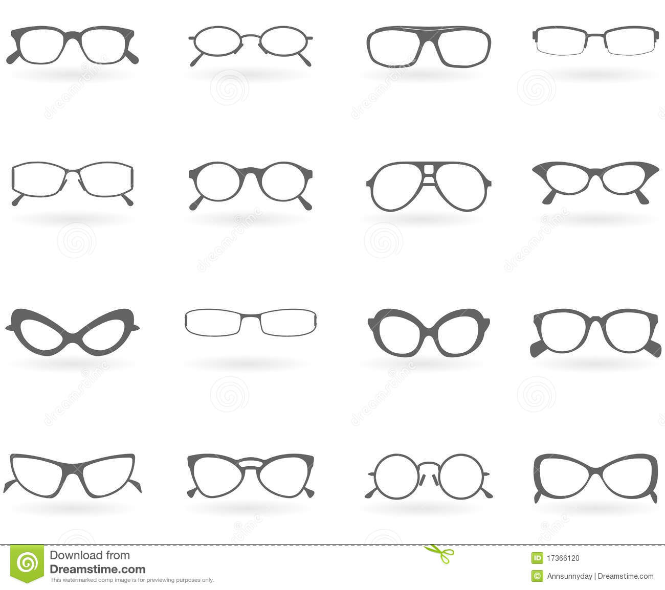 Different Glasses Frames Styles : Glasses In Different Styles Stock Photo - Image: 17366120