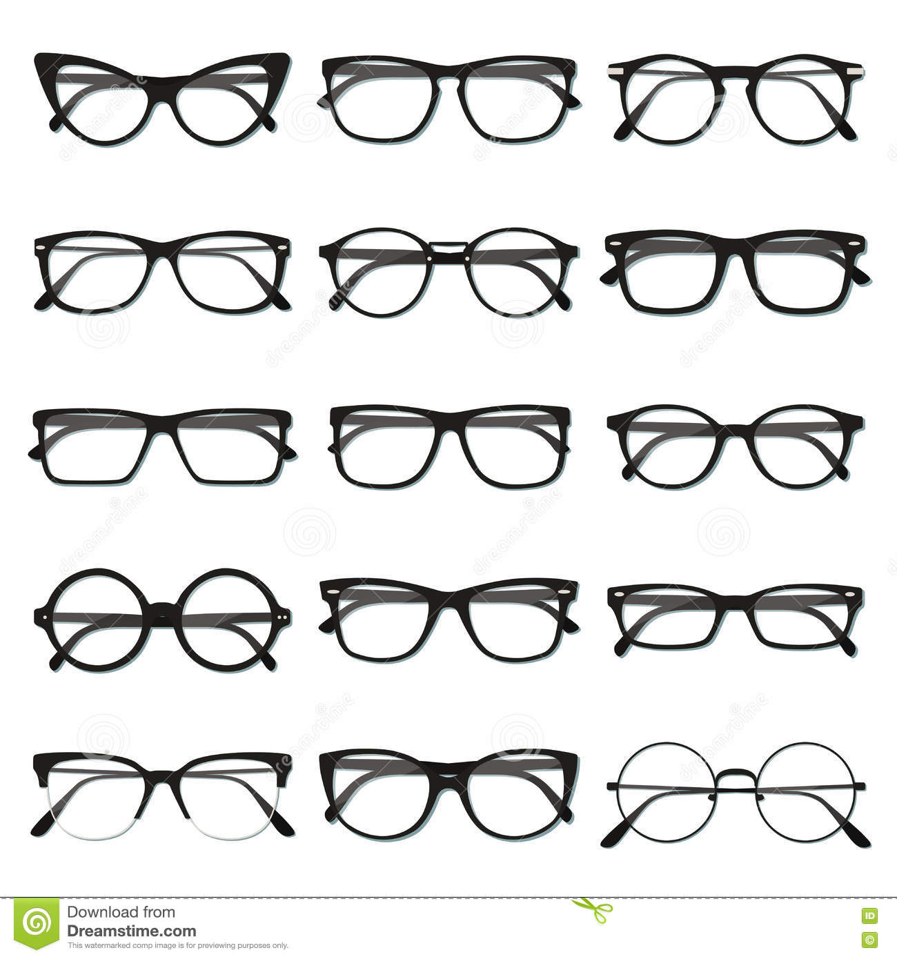 Glasses frame set stock vector. Illustration of glasses - 81978855