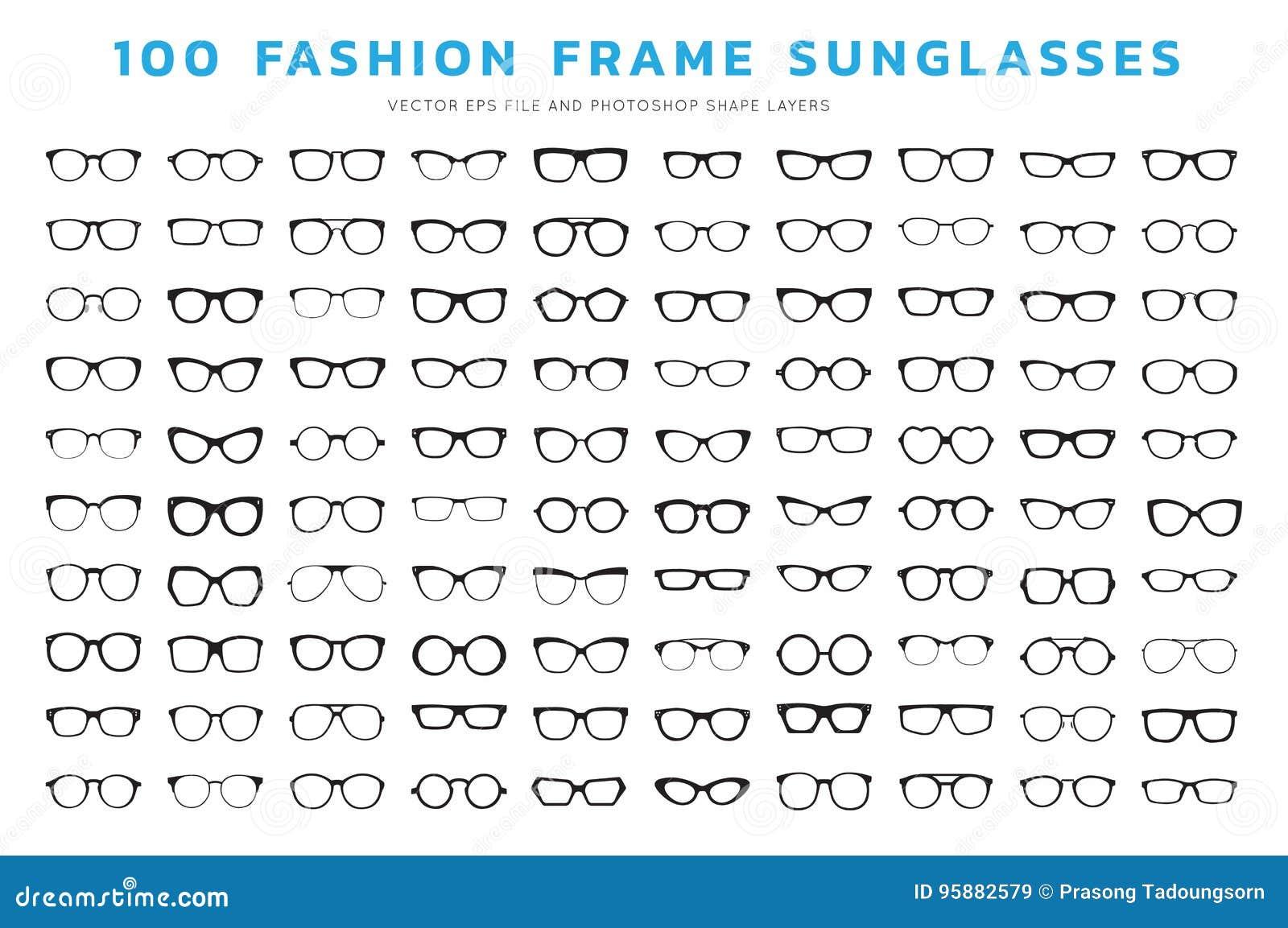 a19dd723351 Set of glasses. Vector illustration on white background. Glasses model  icons