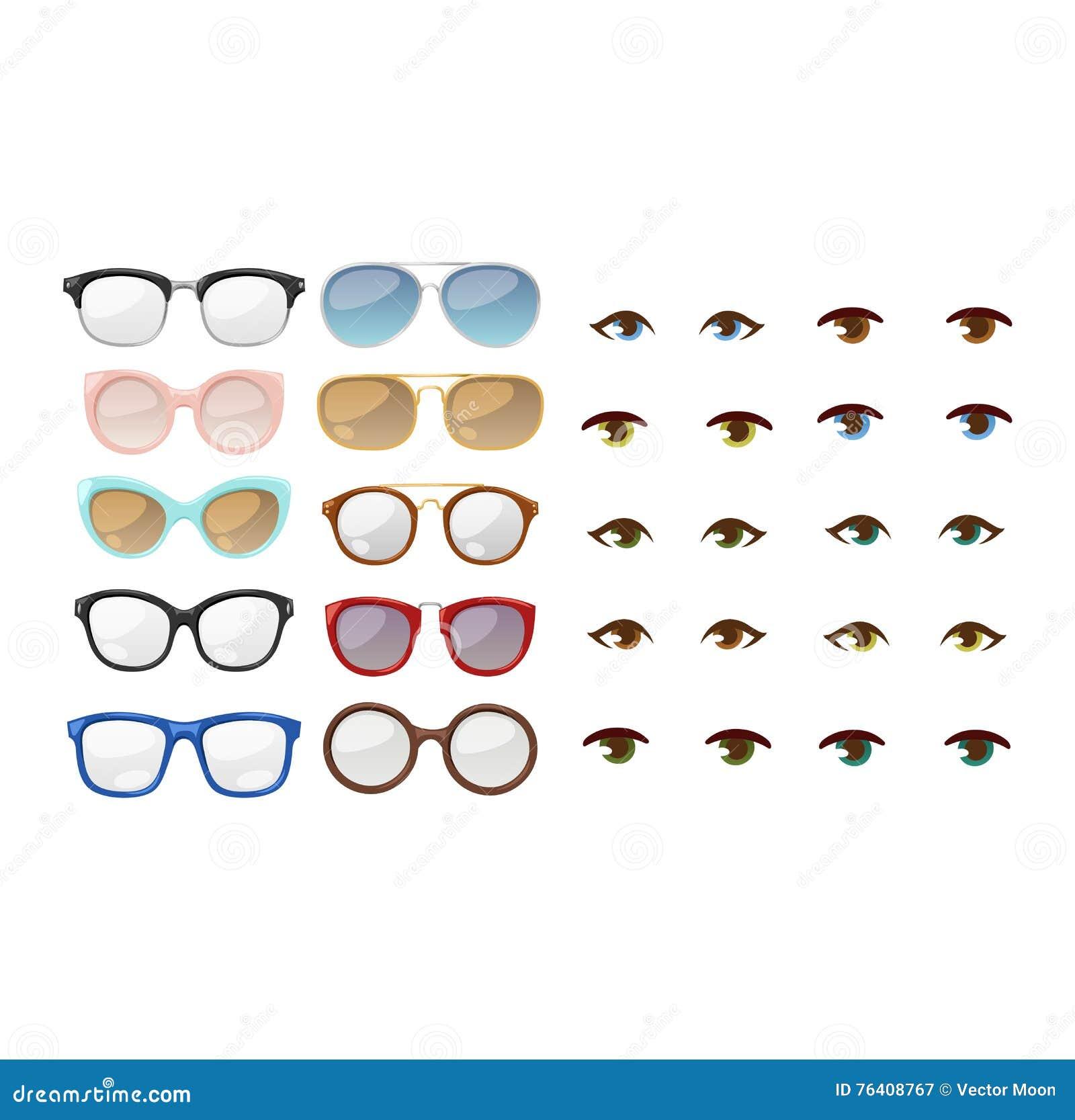 Glasses Human Eye Vector Stock Vector Illustration Of Chart 76408767