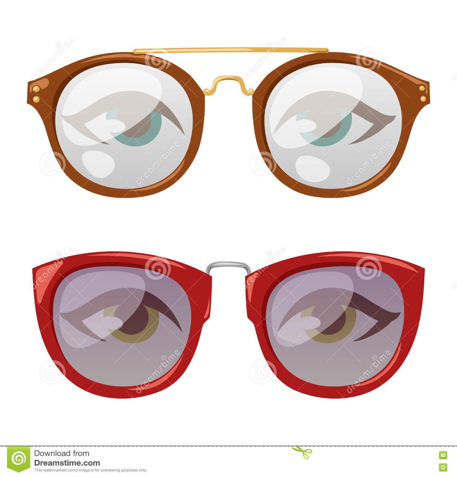 Glasses human eye vector stock vector. Illustration of health - 76585574