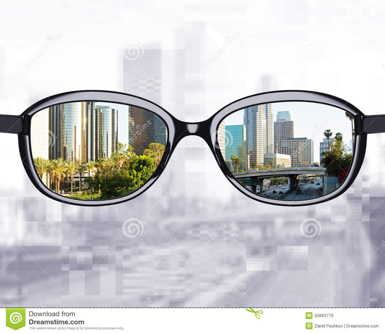 glasses looking to city stock photo image 50893775