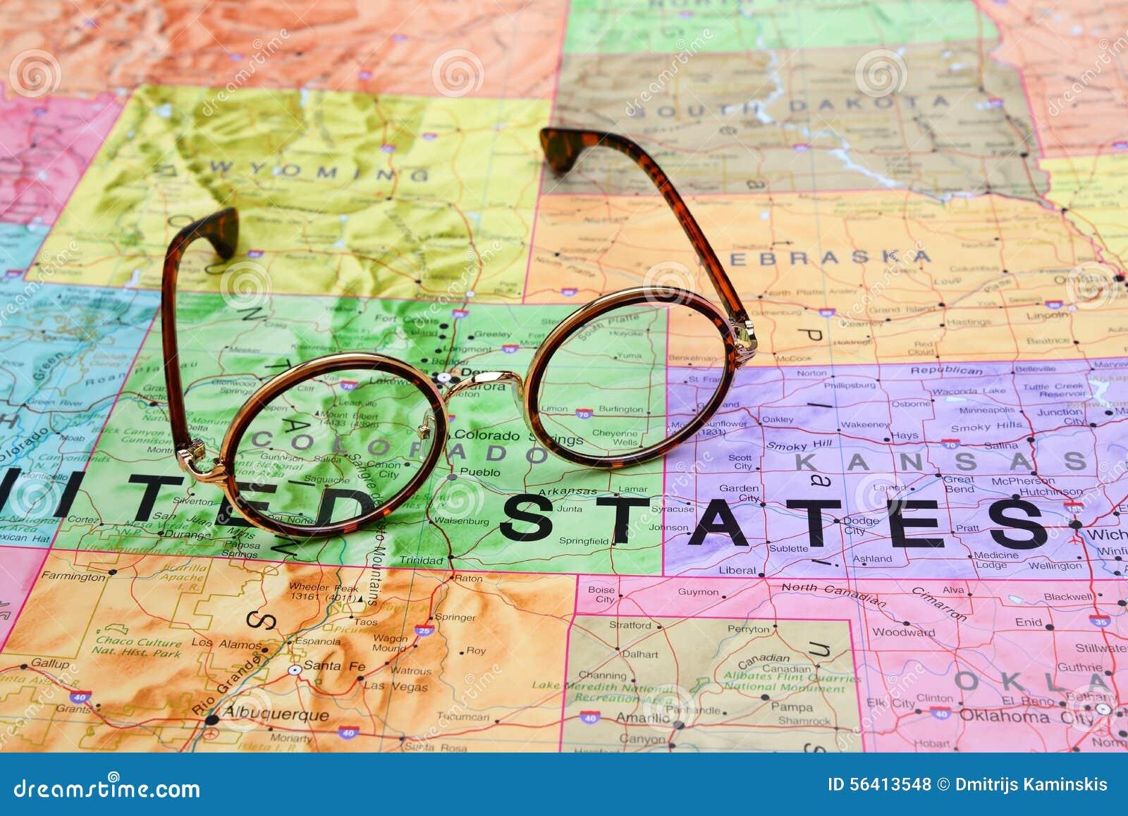 Colorado State On USA Map Colorado Flag And Map US States Card No - Colorado map usa