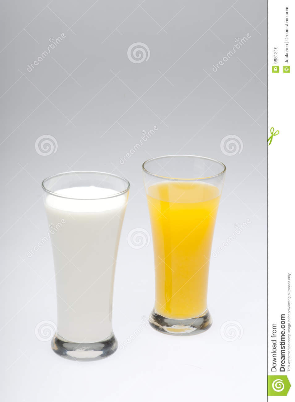 Glasses Of Milk And Orange Juice Royalty Free Stock Images - Image ...