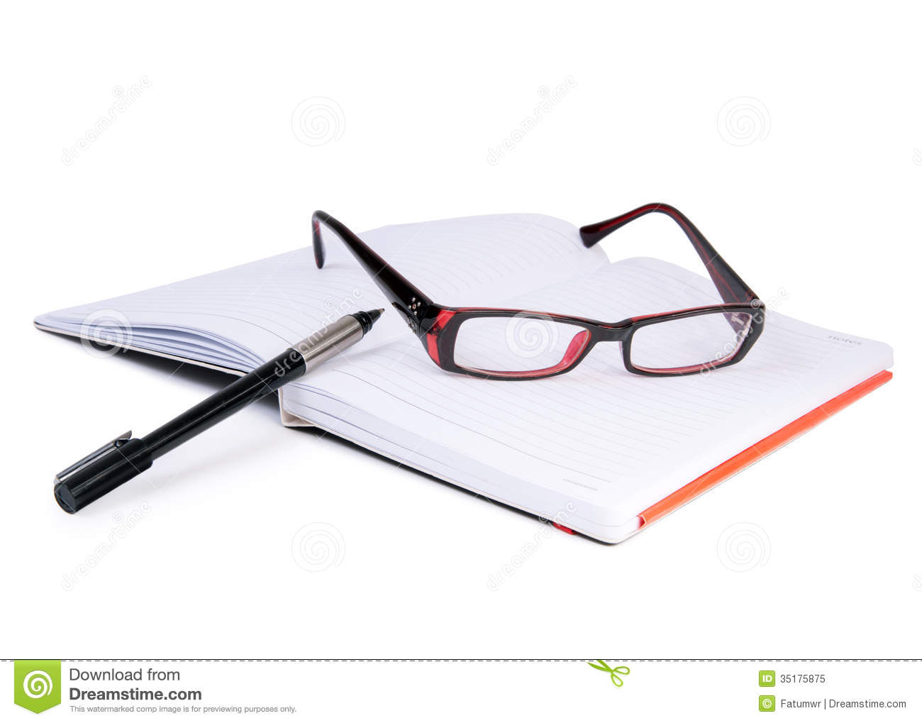 Glasses Notebook And Pen Royalty Free Stock Photo Image