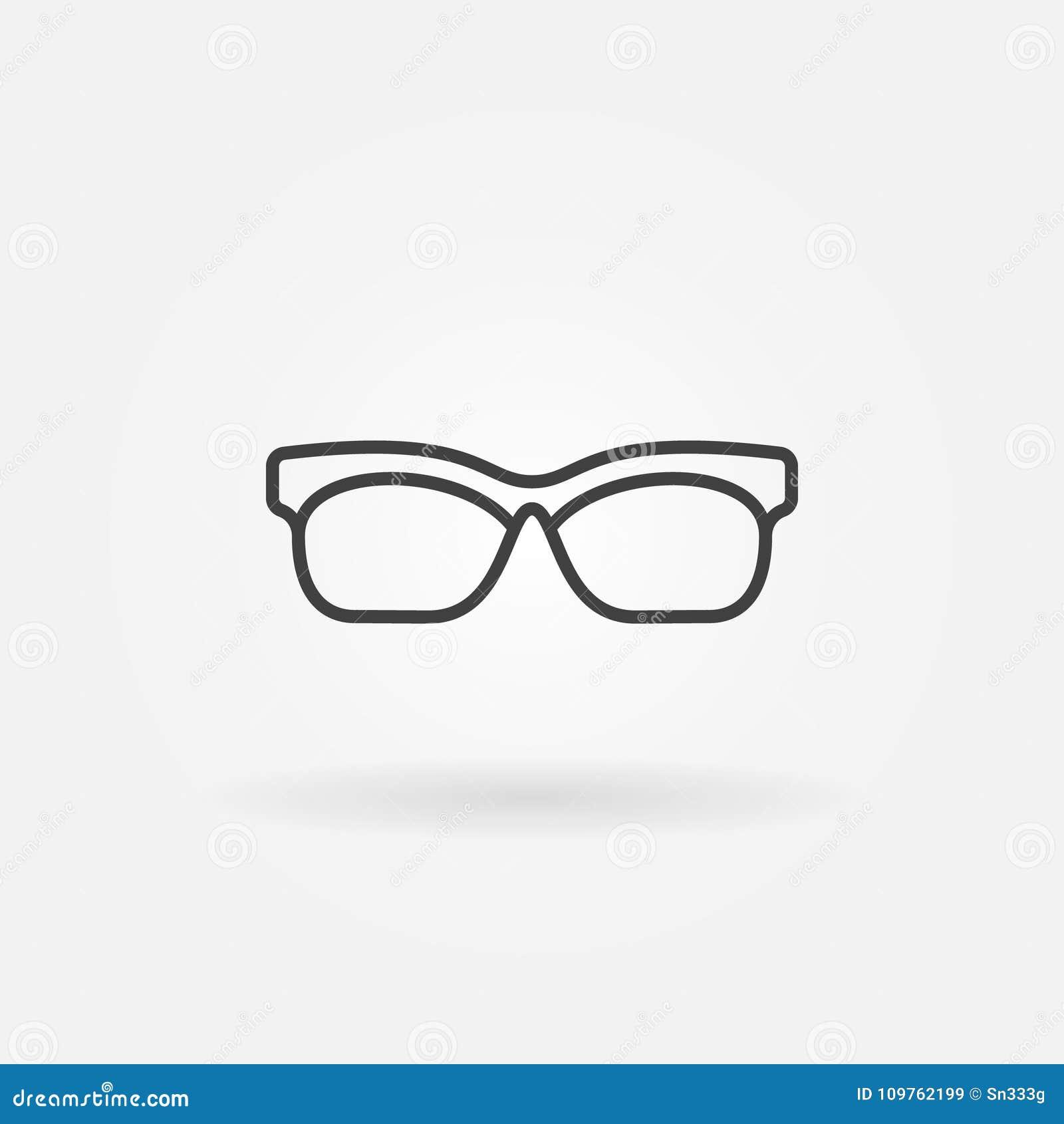 Glasses Outline Icon Vector Sunglasses Line Symbol Stock Vector