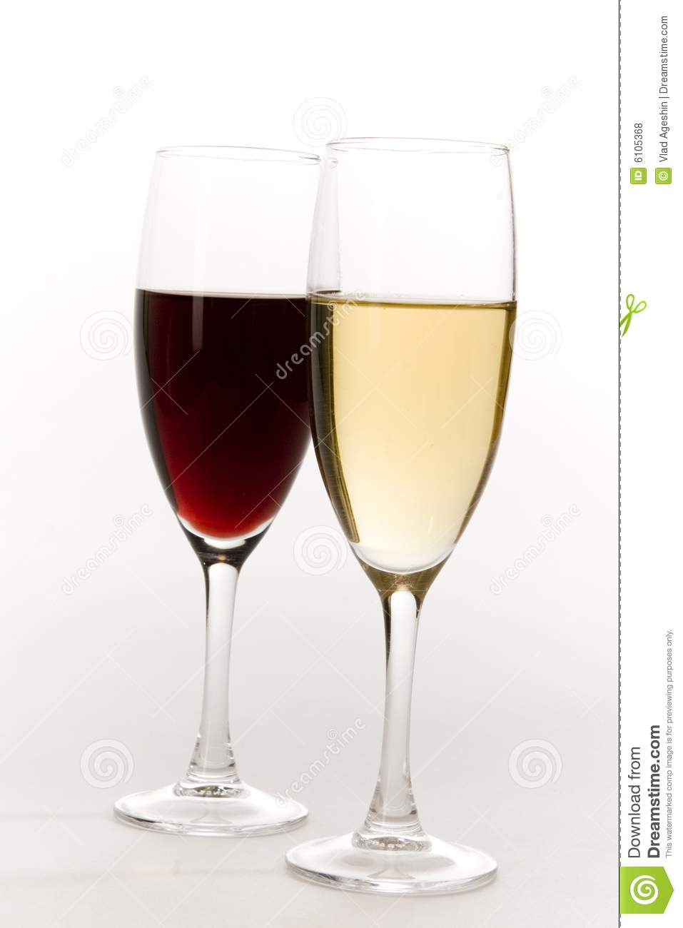 Glasses Of Red And White Wine Royalty Free Stock Photos ...