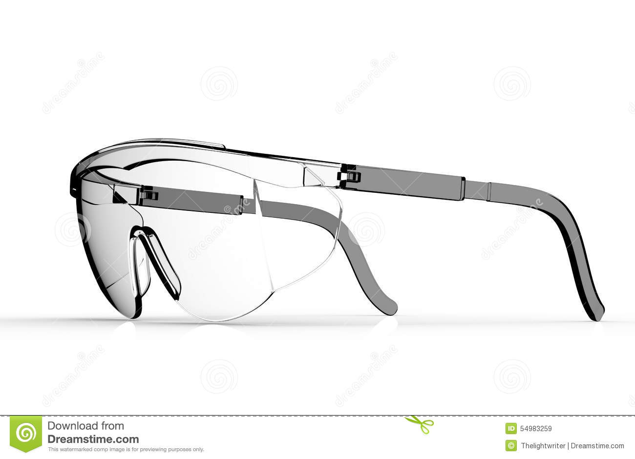 Glasses safety isolated on a white back ground