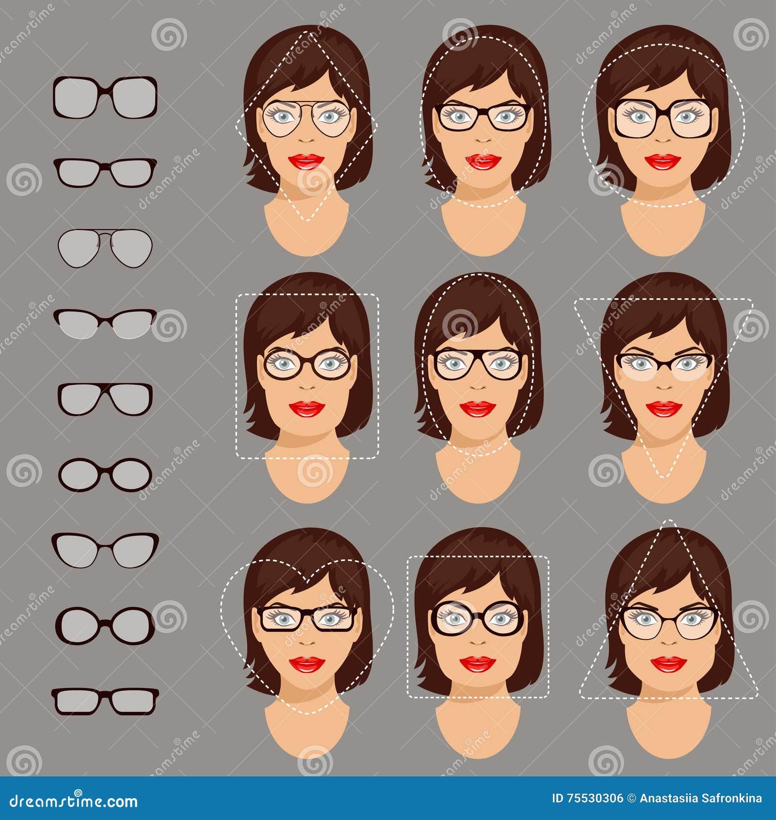 3fa3cfa1bfc Glasses shapes 1. stock vector. Illustration of circle - 75530306