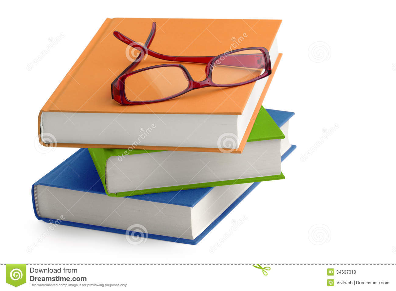 glasses on book - photo #13