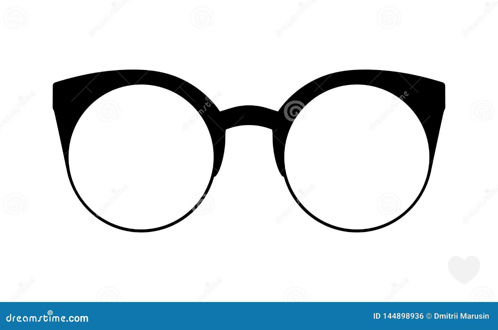 Glasses Vector Accessory Art Black Collection Cool Flat Design Vector Illustration Of Elegan Spectacles In Black Frame White Stock Illustration Illustration Of Background Graphic 144898936