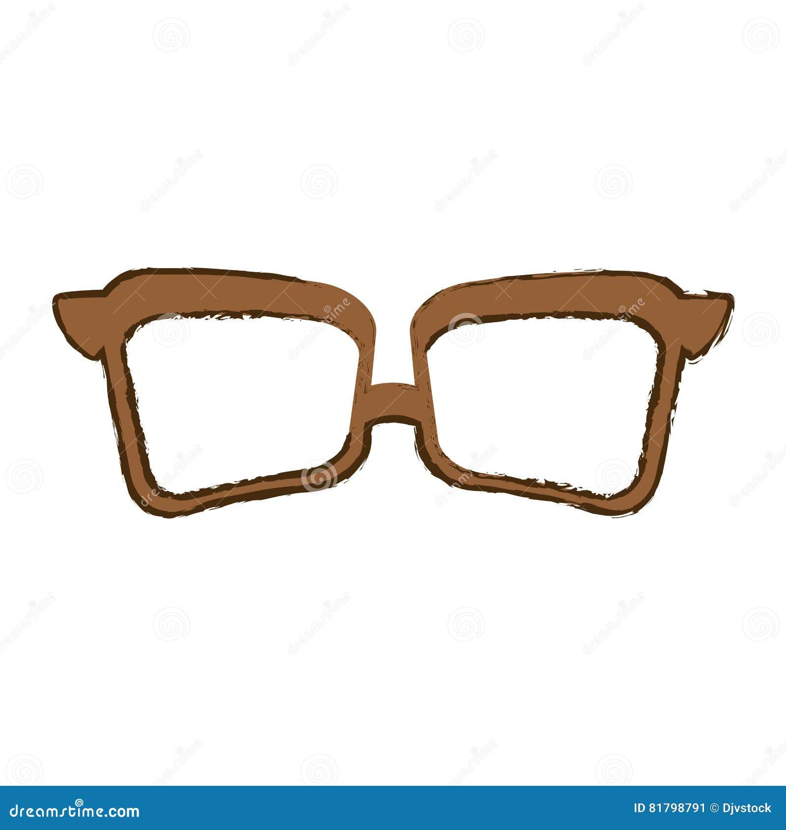 Glasses Vintage Frame Icon Image Stock Vector - Illustration of ...