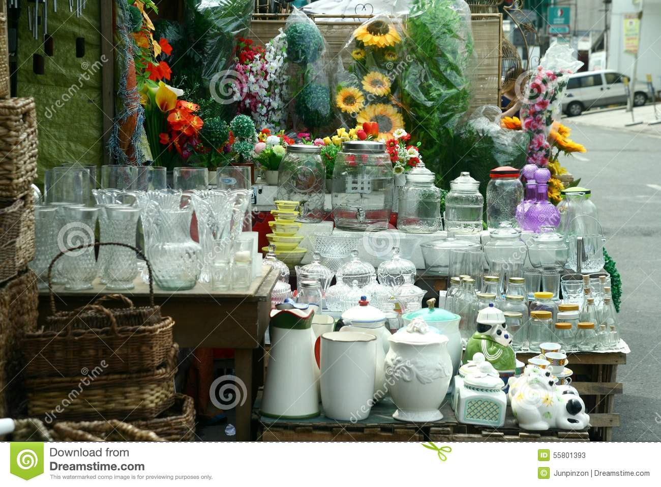 Glassware Sold At A Store In Dapitan Arcade In Manila Philippines Editorial Stock Photo Image