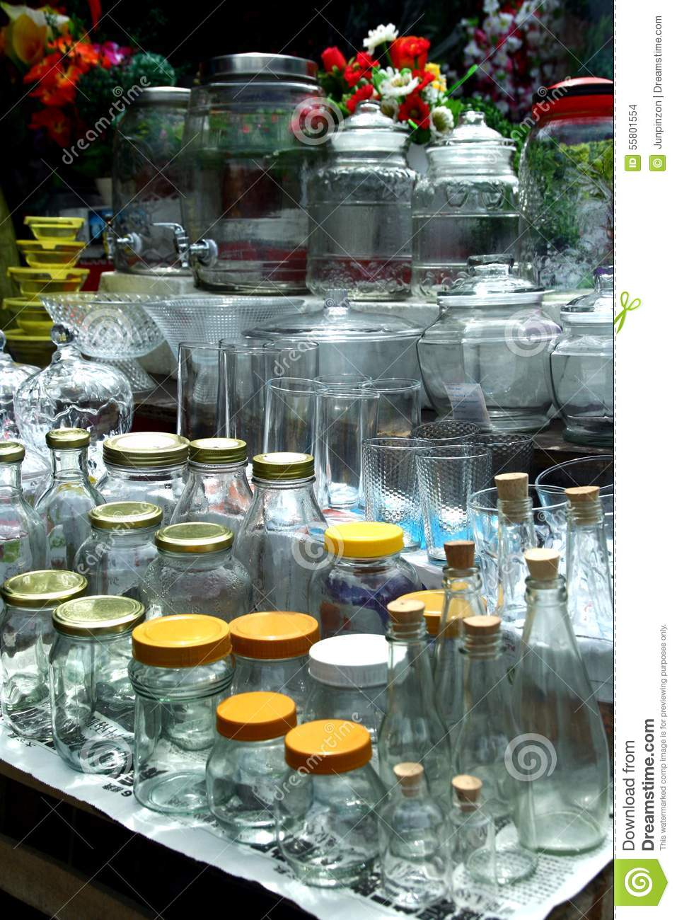 Glassware Sold At A Store In Dapitan Arcade In Manila