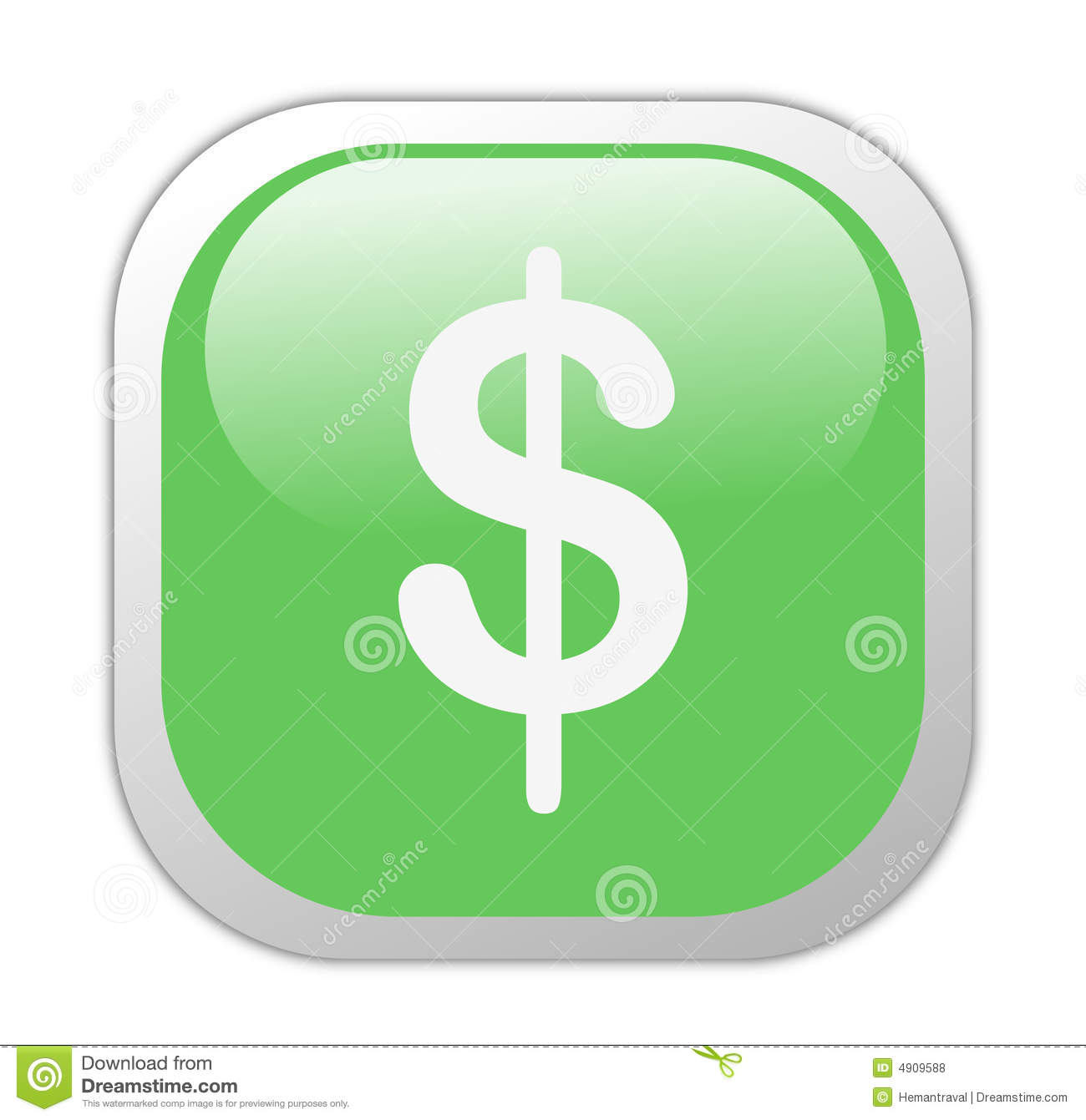 Glassy Green Square Dollar Icon Royalty Free Stock Photos ...