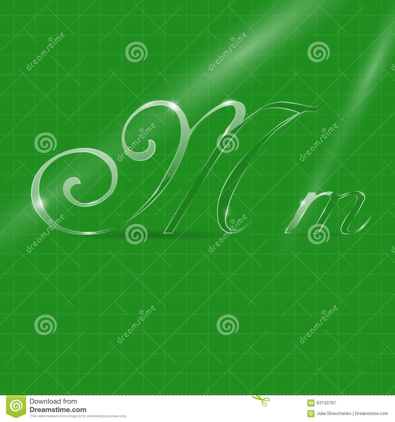 Text Decoration Italic: Glassy Letters In Italics Stock Vector