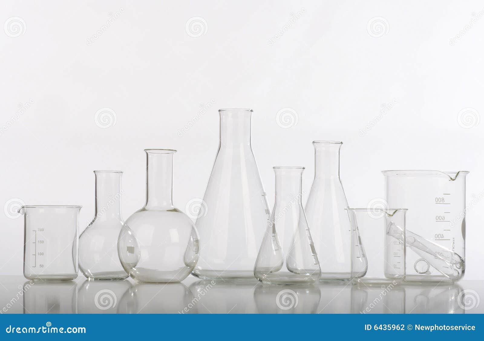 Glaswerk in laboratorium