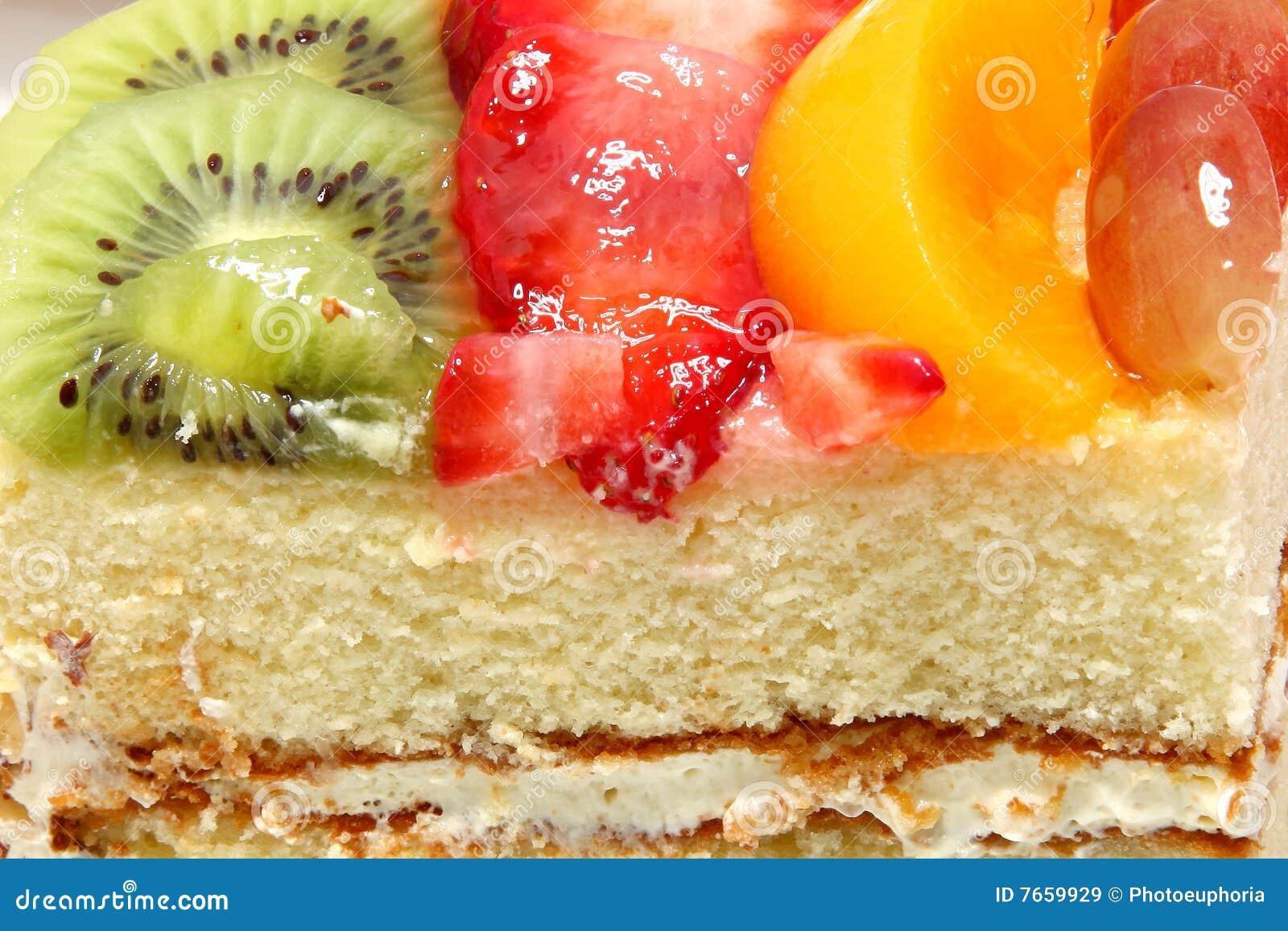 Glazed Fresh Fruit Cake