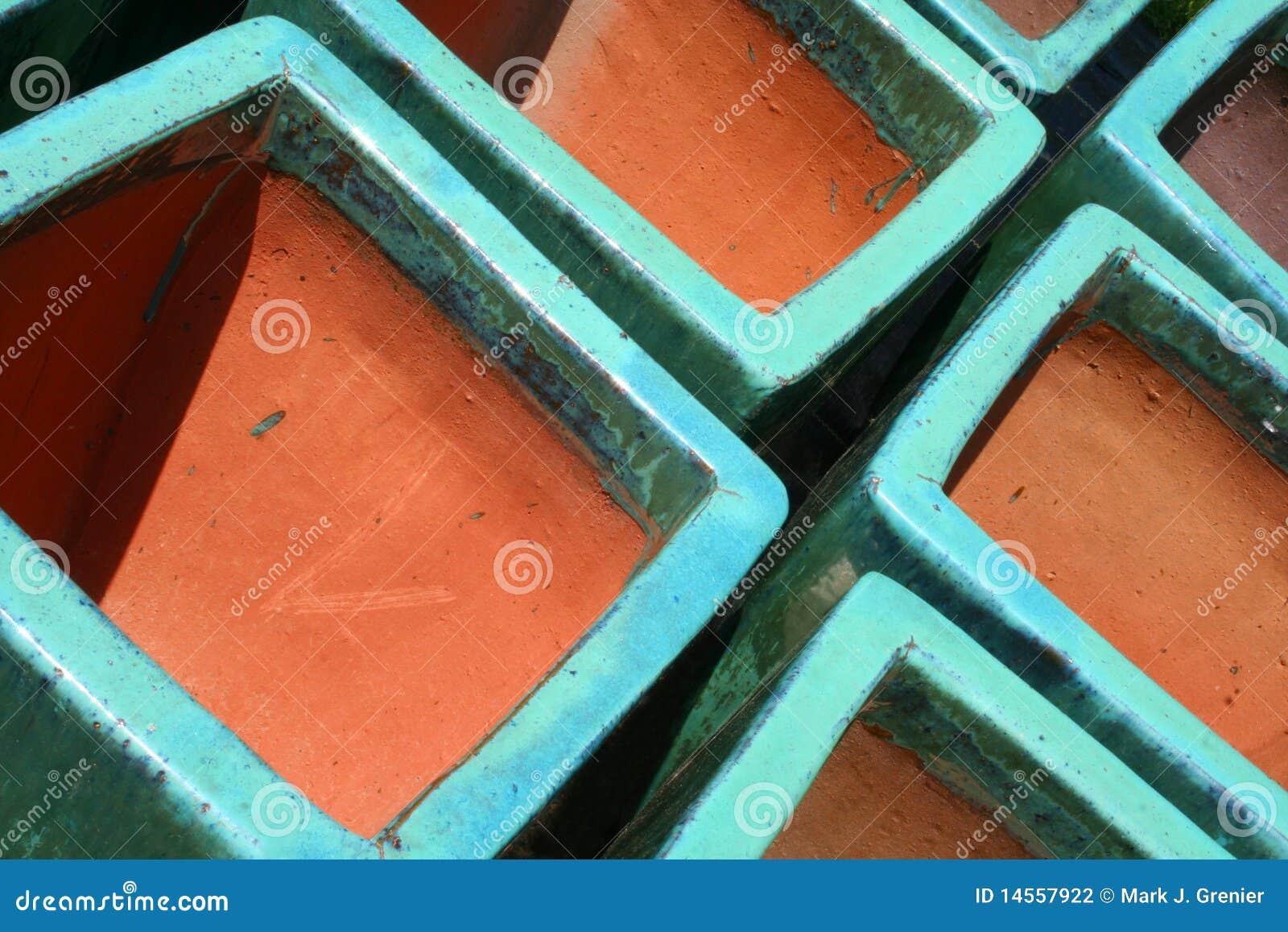 Glazed Terra Cotta Pots