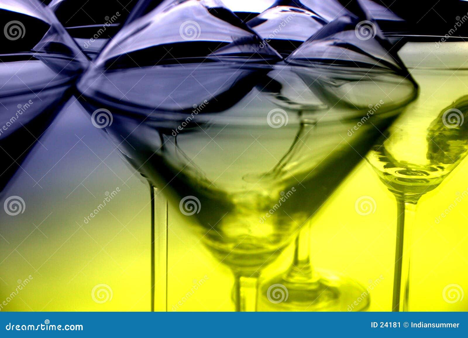 Glazen III van martini