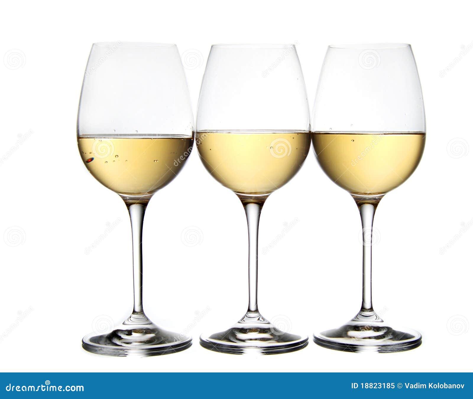 Glazen witte wijn