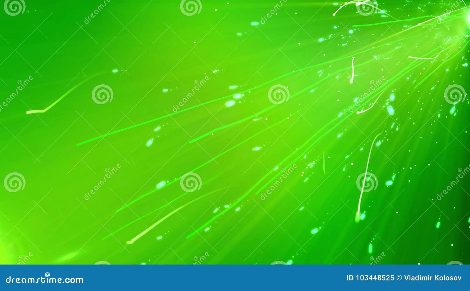 Glazing Green Curvy Lines