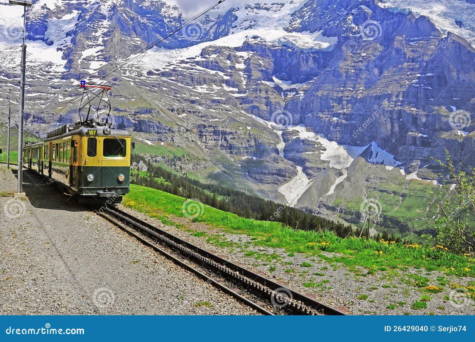 Gleis der schmalen Lehre. Die Schweiz.