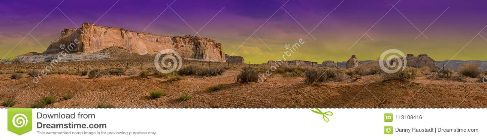 Glen Canyon Arizona Desert Purple Haze Sky