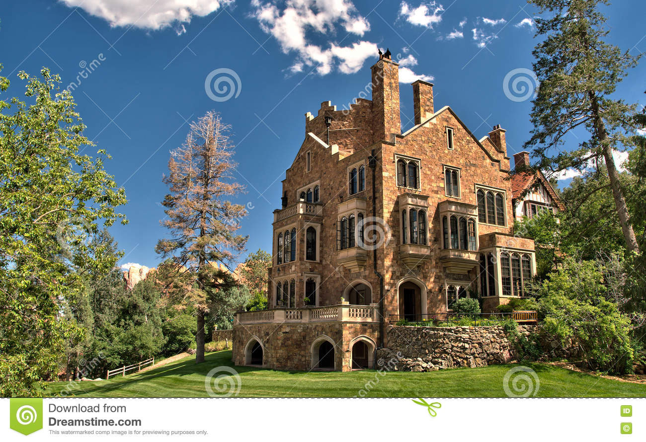 Glen Eyrie Castle In Colorado Springs Colorado Stock