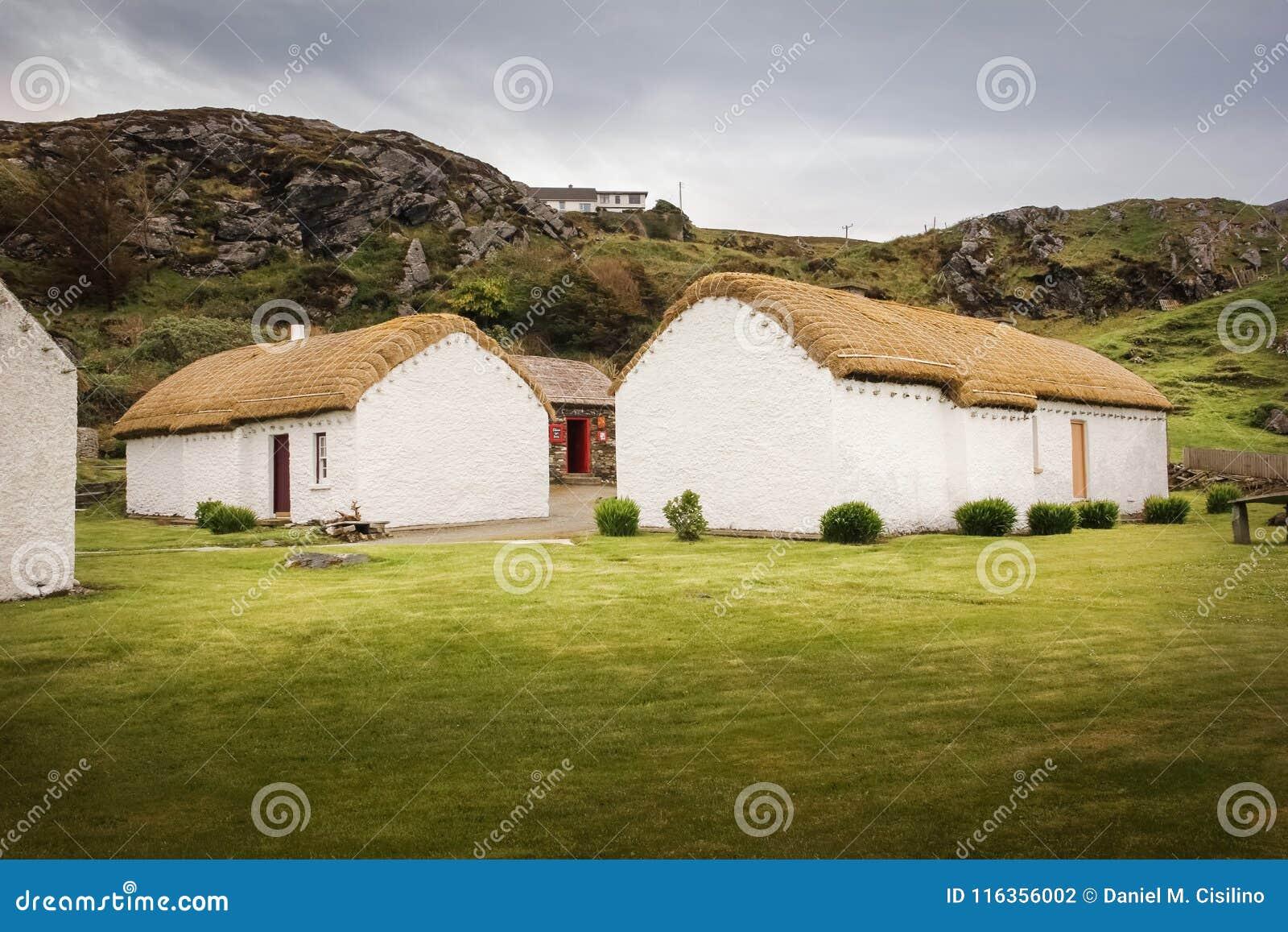 Glencolumbkille Folkby Ståndsmässiga Donegal ireland