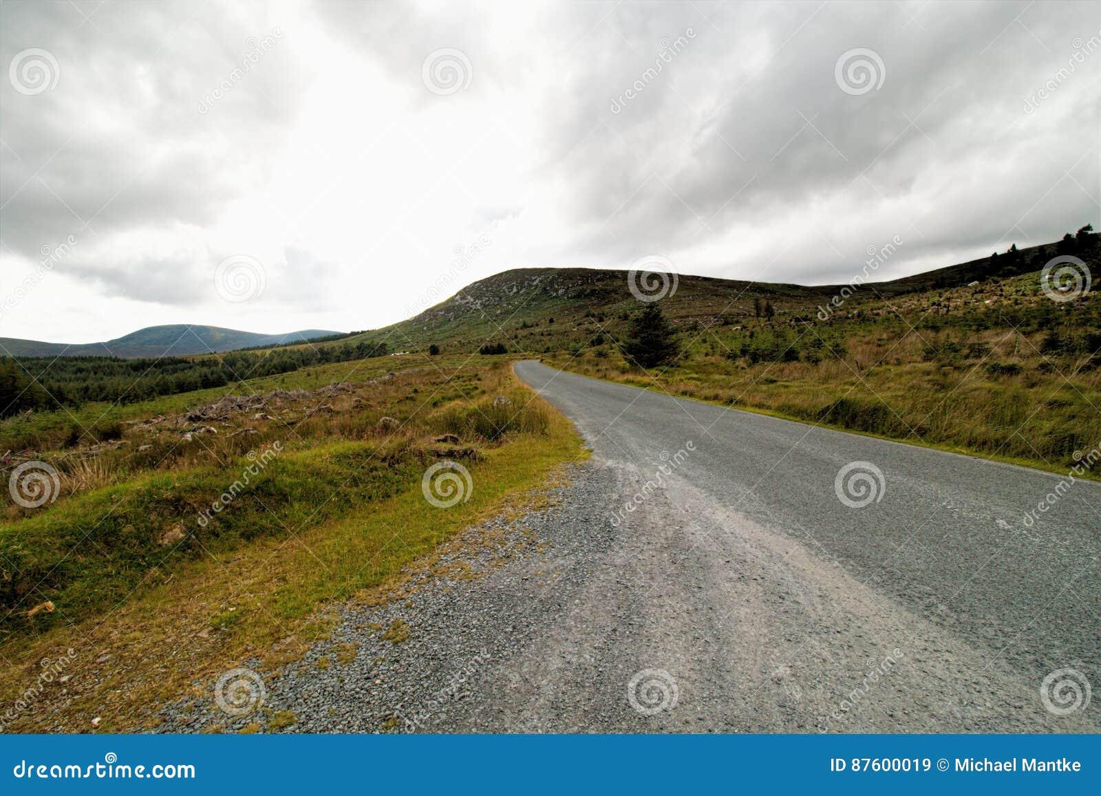 Glendalough, montanhas de Wicklow, Irlanda