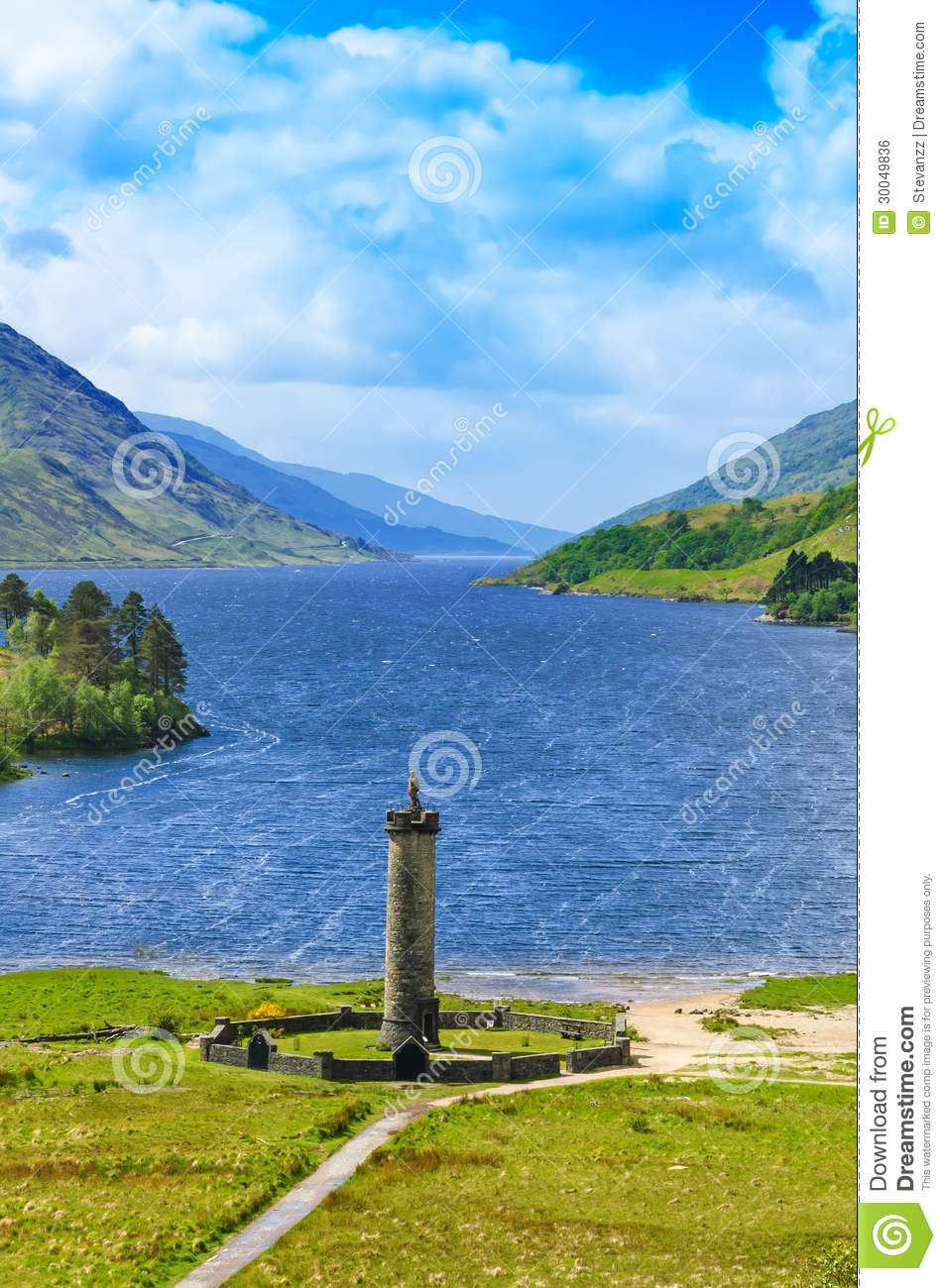 Glenfinnan United Kingdom  City pictures : Glenfinnan Monument And Loch Shiel Lake. Highlands Scotland Royalty ...