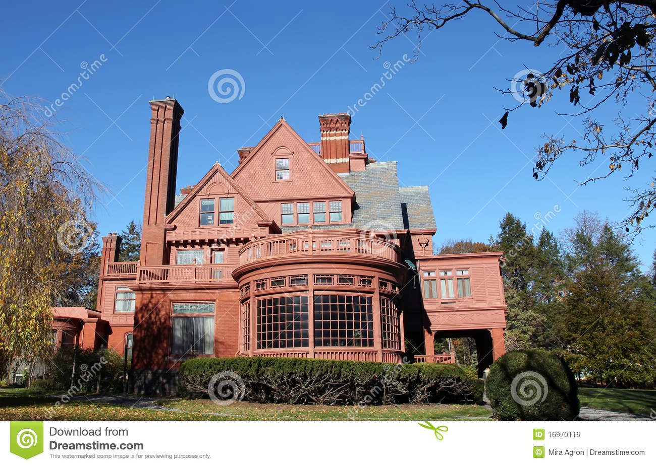 Thomas Edison estate located in Llewellyn Park in West Orange,NJ.The ...