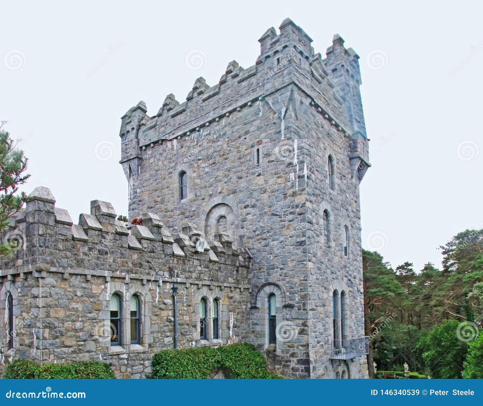 Glenveagh slott i Co Donegal Irland