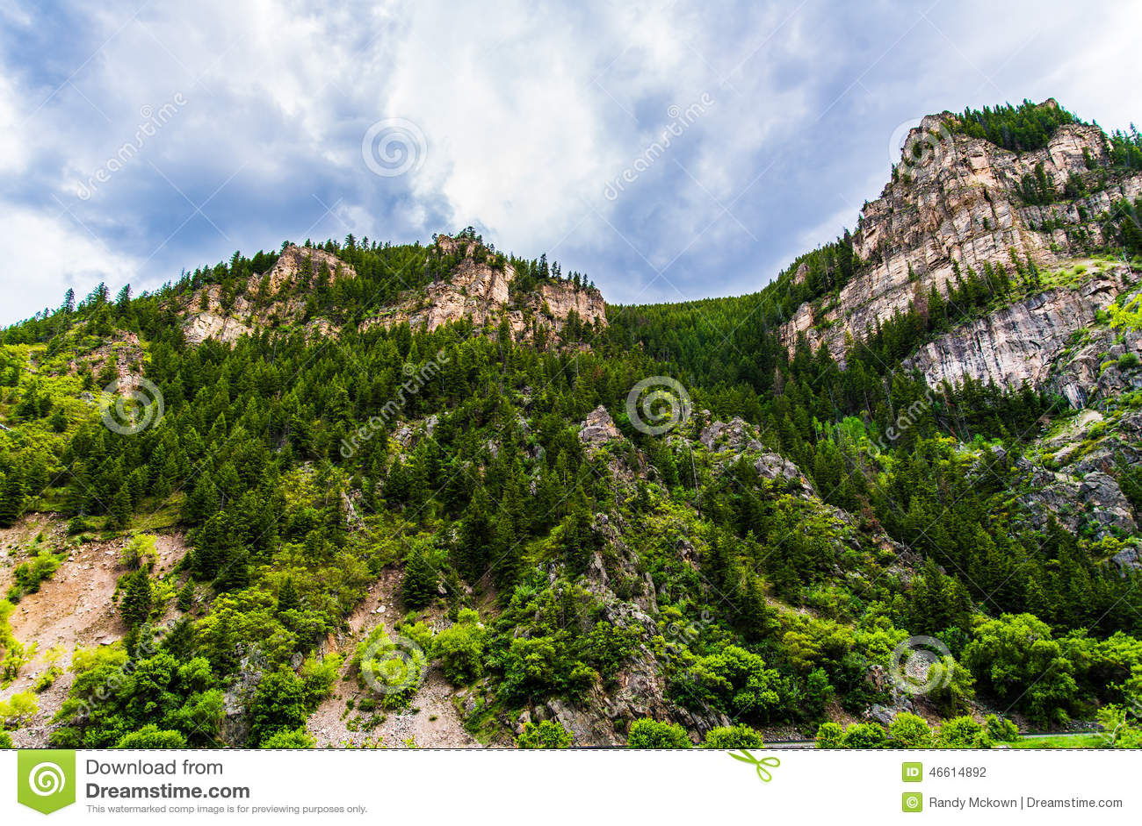 Glenwood峡谷在科罗拉多