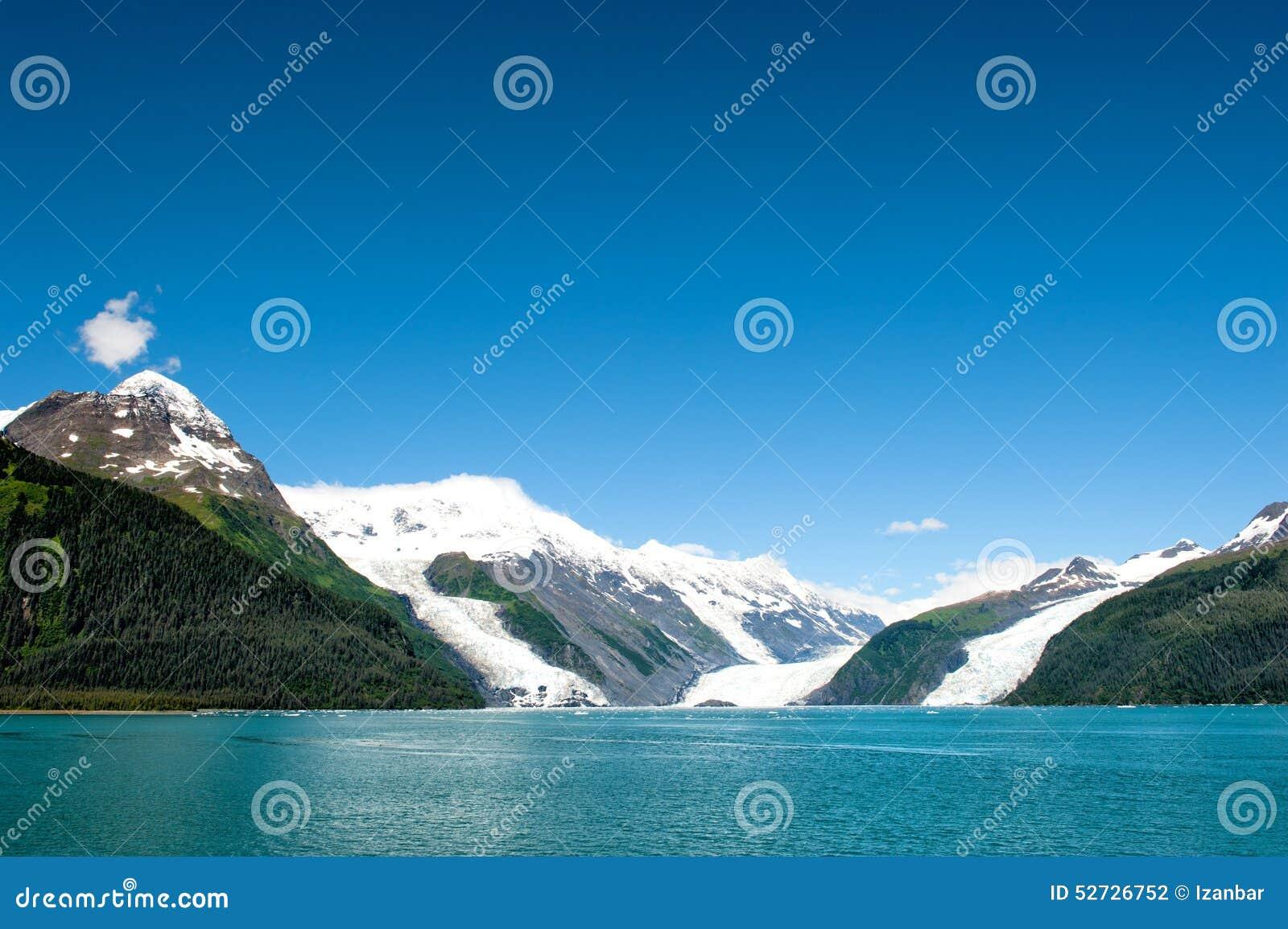 Gletscher-Ansicht Ton Alaska-Prinzen William