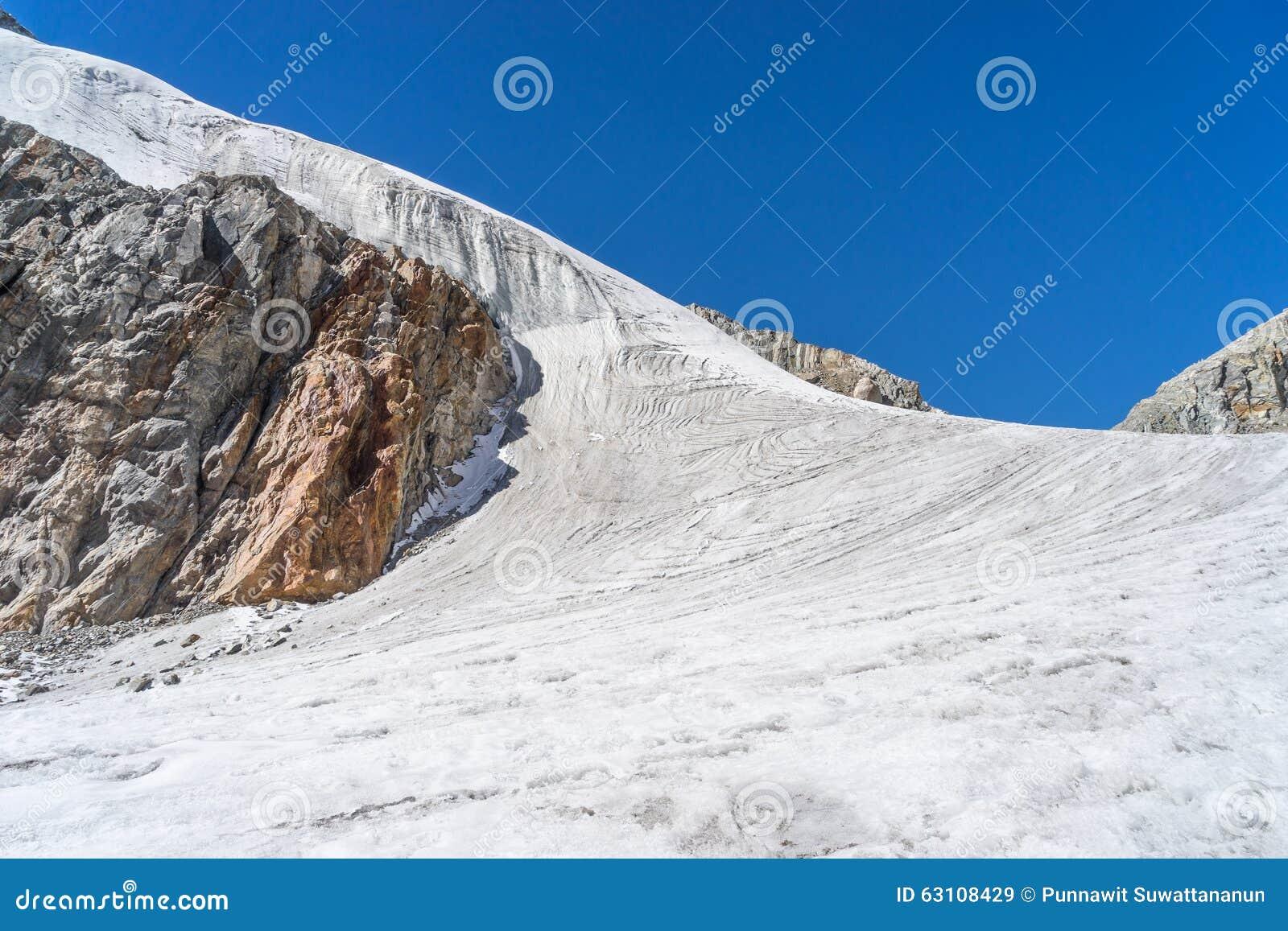 Gletsjer bij Chola-pas
