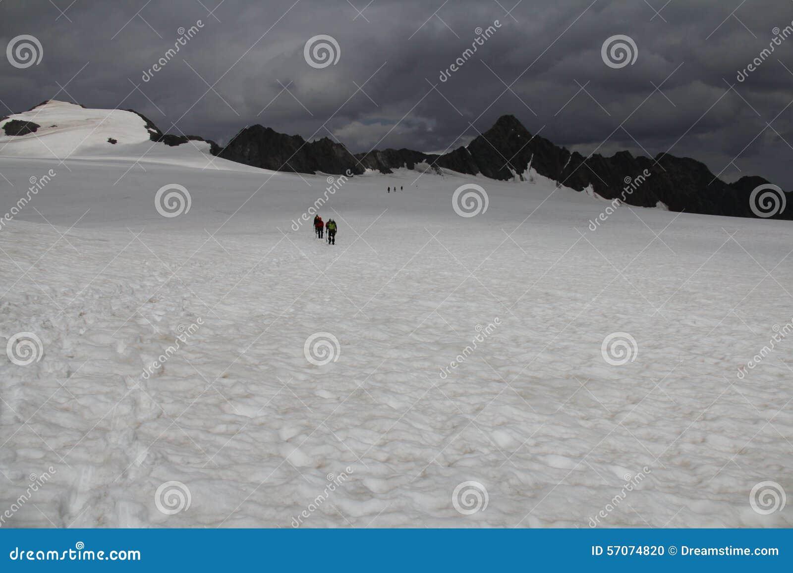 Gletsjerstijging, Fluchtkogel, Otztal-alpen, Oostenrijk