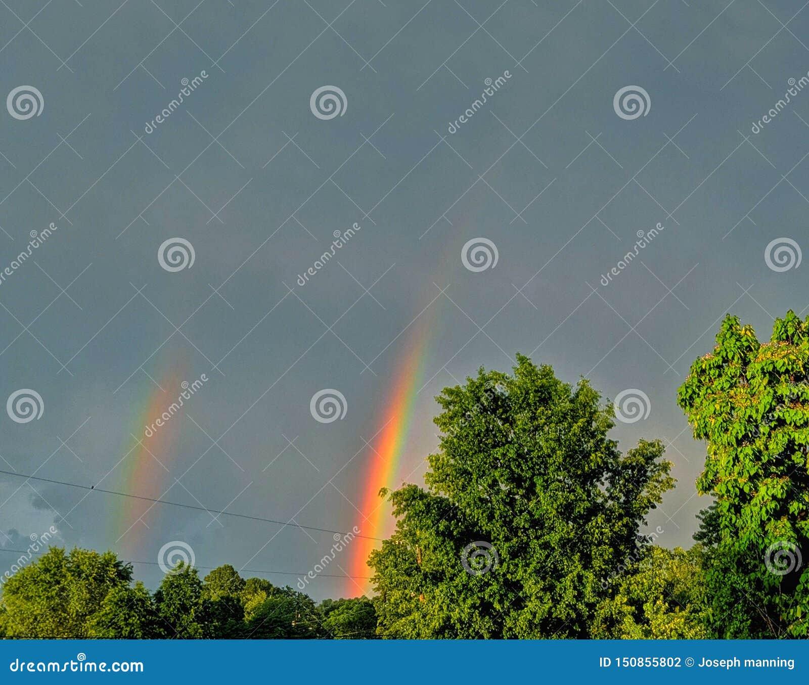 Gli arcobaleni rendono la tempesta proficua
